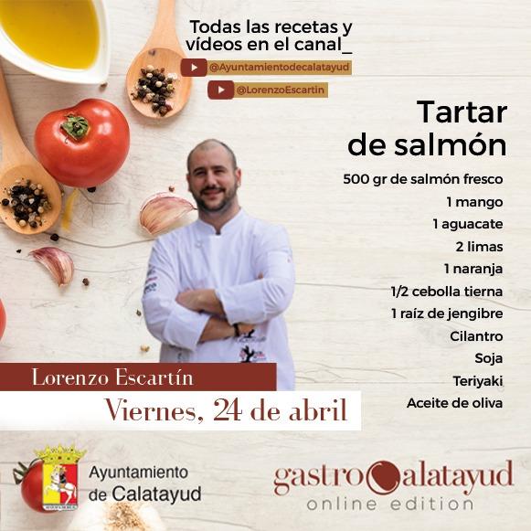 #gastrocalatayud Cocinamos tartar de salmón con Lorenzo Escartín