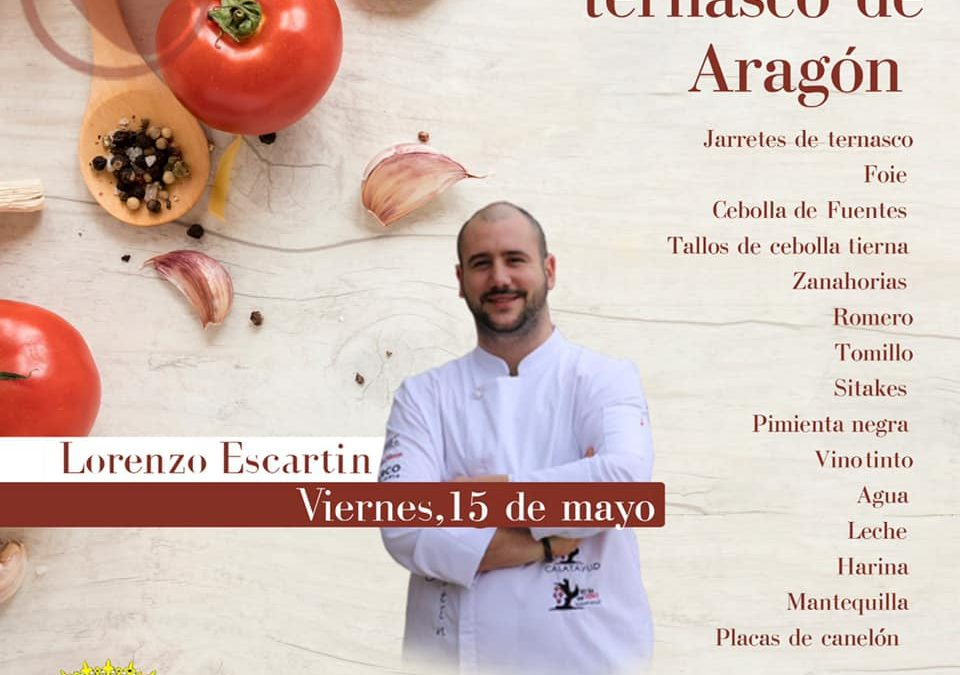 Canelones con ternasco, con Lorenzo Escartín