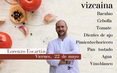 Lorenzo Escartín cocina bacalao a la vizcaína