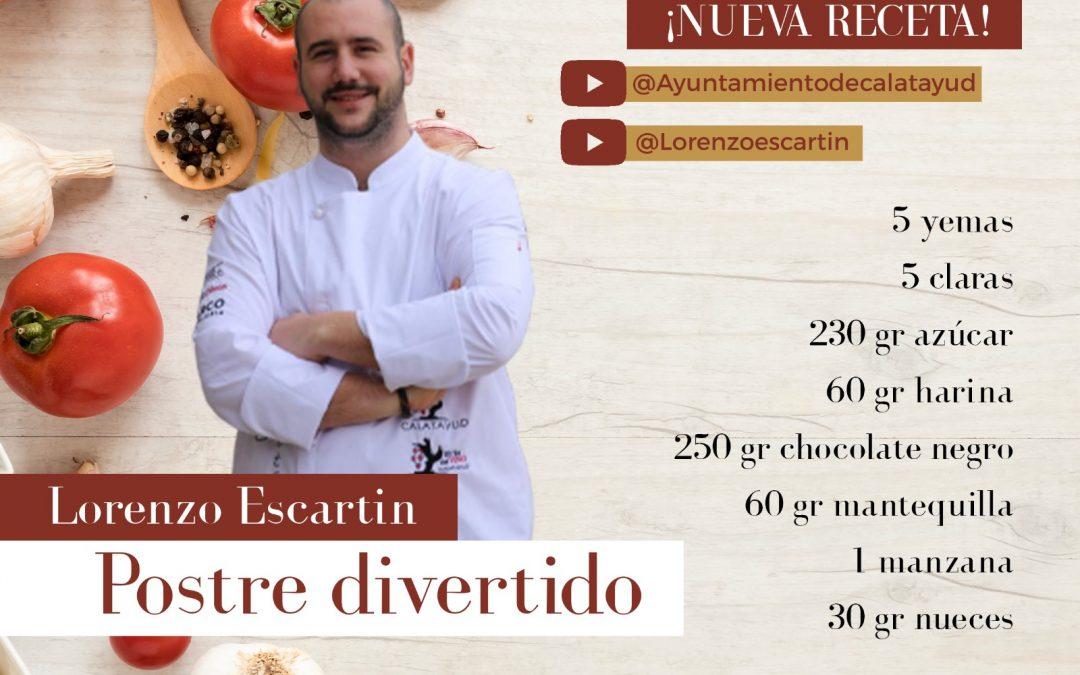 #GastroCalatayud Hoy cocinamos un postre divertido con Lorenzo Escartín